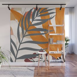 Colorful Red Leaves Wall Mural