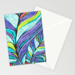 COLOURFUL LEAF AT HOME Stationery Cards