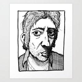 Serge Gainsbourg Art Print
