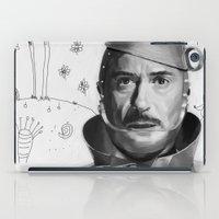robert downey jr iPad Cases featuring Robert Downey Jr by Pazu Cheng
