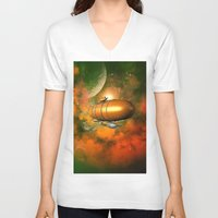 led zeppelin V-neck T-shirts featuring Zeppelin  by nicky2342
