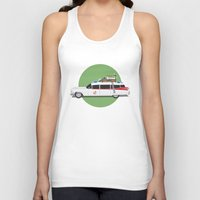 ghostbusters Tank Tops featuring Ghostbusters HQ by Michael Walchalk