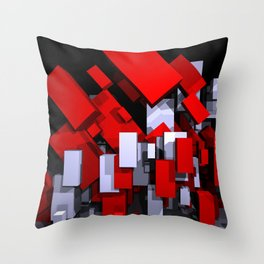 red and white boxes - landscapeformat Throw Pillow