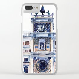 St Mark's Clocktower Clear iPhone Case