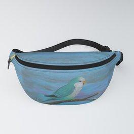 Cuddly blue quaker parrot Fanny Pack