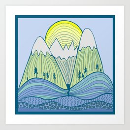Come Play on the Mountains Art Print