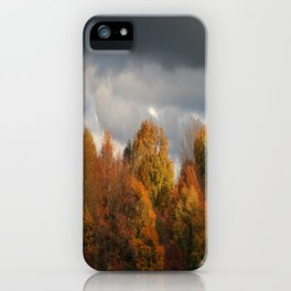 Sunset on Stormy Fall Day iPhone Case
