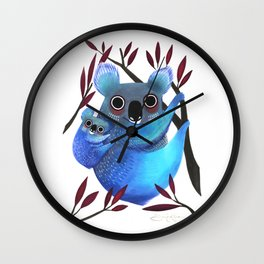 Koala Love Wall Clock