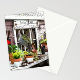 Potting Shed At Work - angled Stationery Cards