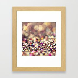 Rainbow Sprinkles - an abstract photograph Framed Art Print