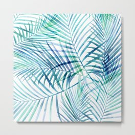 Tropical Palm Pattern Metal Print