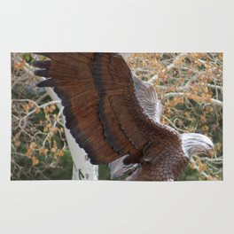 American Eagle and Birch Tree Rug