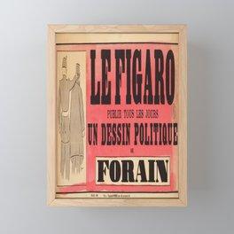 manifesto le figaro un dessin politique de Framed Mini Art Print