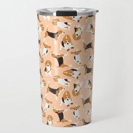 beagle scatter peach Travel Mug
