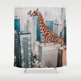 Giraffe in NYC Shower Curtain