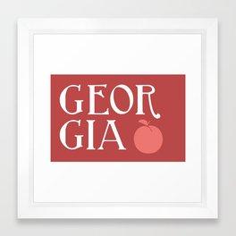 Georgia Peach Framed Art Print
