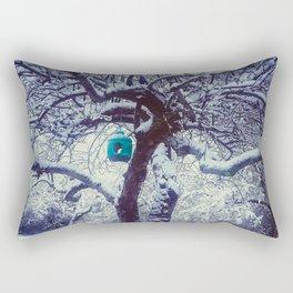 Winter Feeder Rectangular Pillow