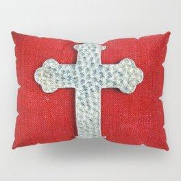 Red Crucifix Pillow Sham