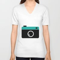 cameras V-neck T-shirts featuring cameras by Sahar