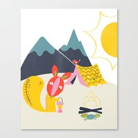 camping Canvas Prints featuring Camping by Pragya Kothari Inc
