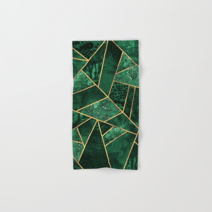 Deep Emerald Hand & Bath Towel