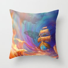 Sky Travel Throw Pillow