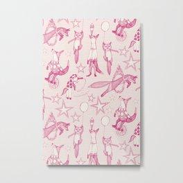 foxy circus pink ivory Metal Print