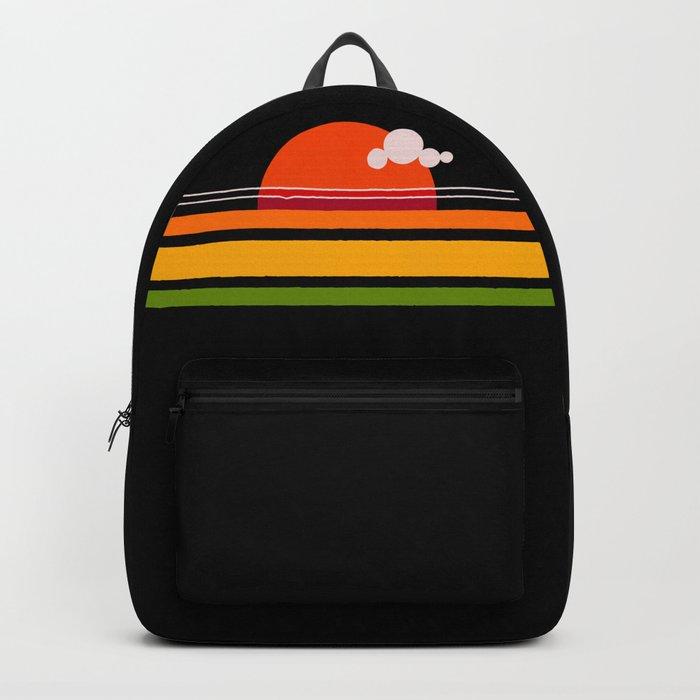 rosso di sera bel tempo si spera Backpack