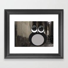 Gothic owl Framed Art Print
