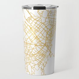 BOGOTA COLOMBIA CITY STREET MAP ART Travel Mug