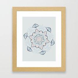 Jin Blue Mandala Framed Art Print