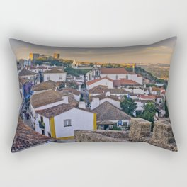 Obidos in the evening Rectangular Pillow