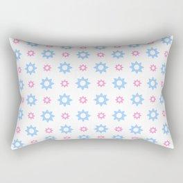 stars 118- blue and pink Rectangular Pillow