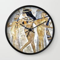 egyptian Wall Clocks featuring Egyptian Musicians by Brian Raggatt