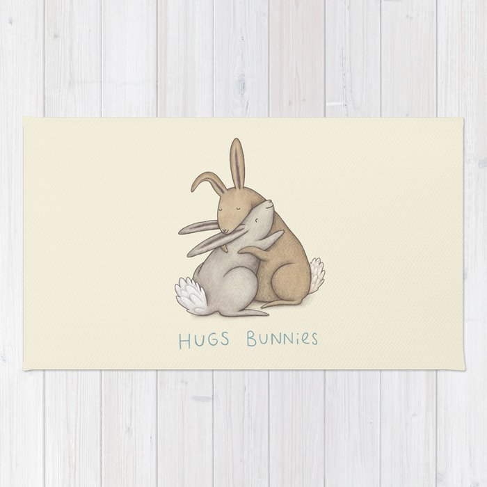 Hugs Bunnies Rug By Sophiecorrigan Society6
