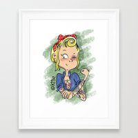 rockabilly Framed Art Prints featuring Rockabilly by KMie.