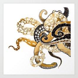 Metallic Octopus Art Print