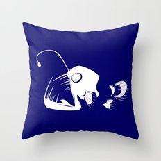 Deep Sea Fish Throw Pillow