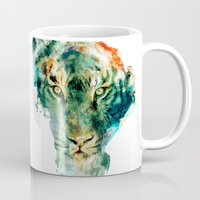 wildlife Mugs featuring African Wildlife by RIZA PEKER