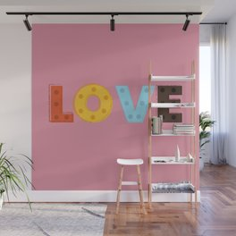 happy LOVE - typography Wall Mural