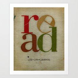 read love Art Print