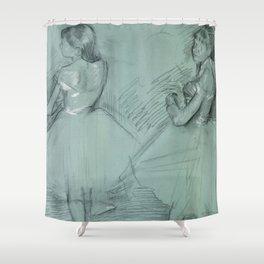 """Edgar Degas """"Two Dancers"""" Shower Curtain"""