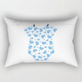 Baby body suit made of blue heart Rectangular Pillow