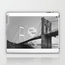 Bridges - nyc vs istanbul Laptop & iPad Skin