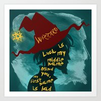 discworld Art Prints featuring Rincewind by Sator_