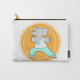 Yoga elephant - warrior pose Carry-All Pouch