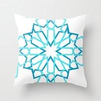 arabic Throw Pillows featuring Arabic Pattern by Soso Creation