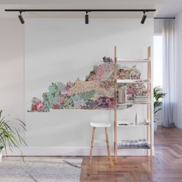 Kentucky map Wall Mural