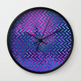 Acid Ombre Herringbone Wall Clock