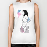 melissa smith Biker Tanks featuring Patti Smith by Nicky Phillips